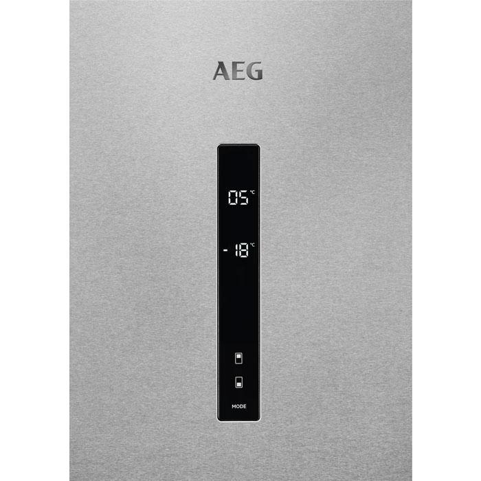 Комбиниран хладилник с фризер AEG RCB632E5MX No Frost, 186 см, Клас А++