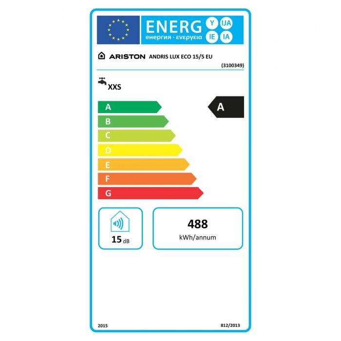 Малолитражен бойлер Ariston Andris Lux Eco 15/5 EU - над мивка