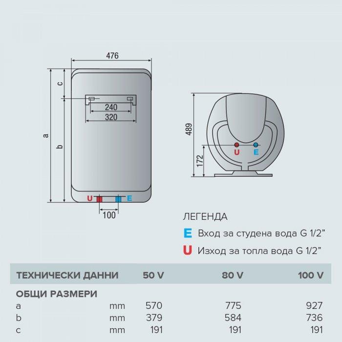 Вертикален бойлер Ariston SHP ECO EVO 80 V 1.8K EU