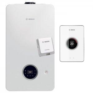 Газов котел Bosch Condens 2300i W 24/30 C 23, димоотвод, WiFi управление EasyControl CT 200 white, 24/29 kW, двуконтурен