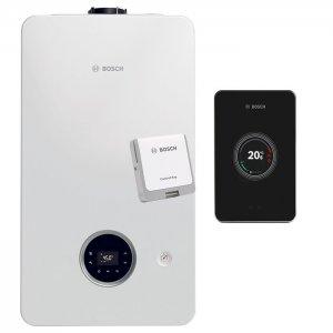 Газов котел Bosch Condens 2300i W 24/30 C 23, димоотвод, WiFi управление EasyControl black, 24/29 kW, двуконтурен