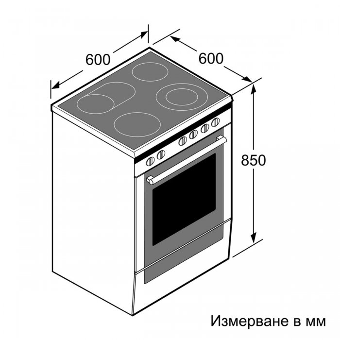 Електрическа готварска печка Bosch HKR39C250 серия 4, 60 см