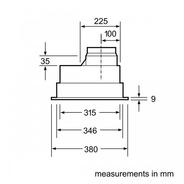 Аспиратор за пълно вграждане Bosch DHL555BL Серия 4, 618 м3/ч