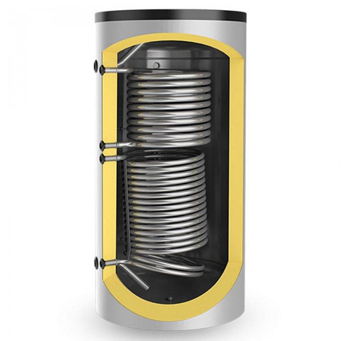 Буферен съд Eldom BCS2 500K80 за отоплителни инсталации с две серпентини