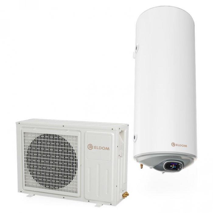 Термопомпен бойлер Eldom HPWH120IS 120 л със соларна серпентина - неръждаем