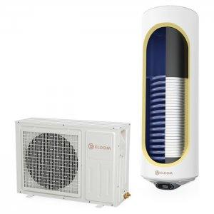 Термопомпен бойлер Eldom HPWH120S 120л със соларна серпентина