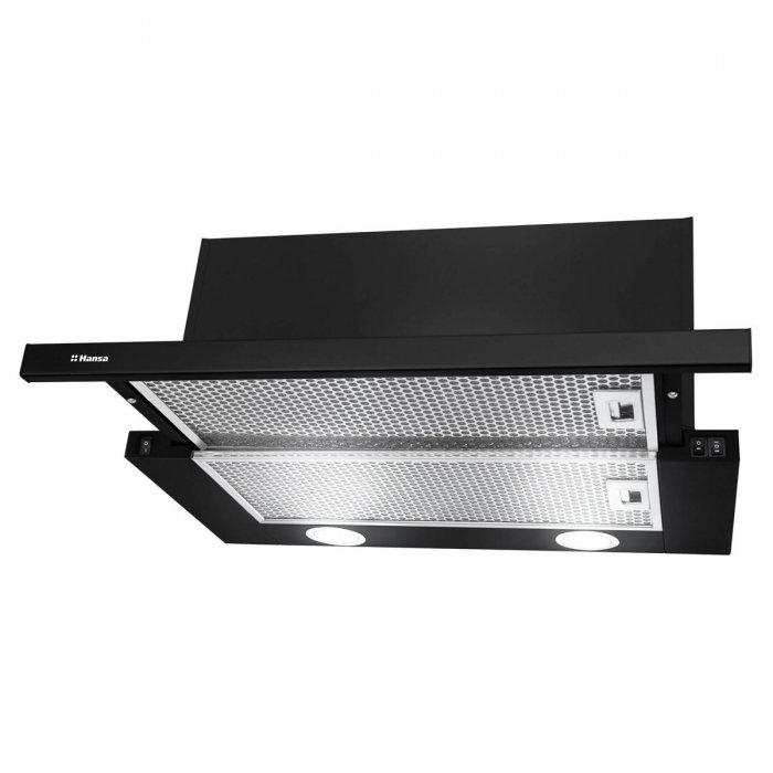Телескопичен абсорбатор за вграждане Hansa OTP 6241 BH черен, 415 м3/ч