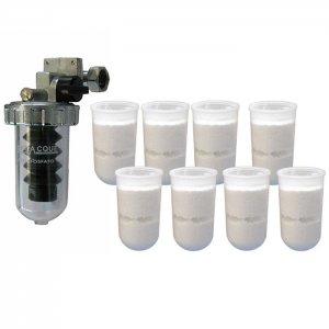 Комплект дозатор - омекотител на санитарна вода + 8бр. пълнители