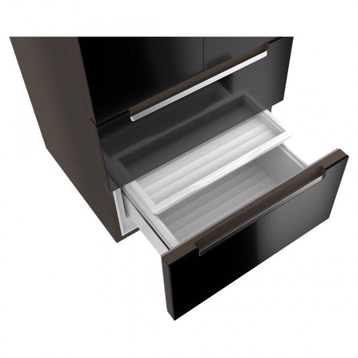Комбиниран хладилник Teka RFD 77820 NoFrost - Черно стъкло