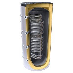 Буферен съд TESY V 12/9 S2 1000 95 HYG5.5 C за инсталации и БГВ с две серпентини + хигиенна серпентина