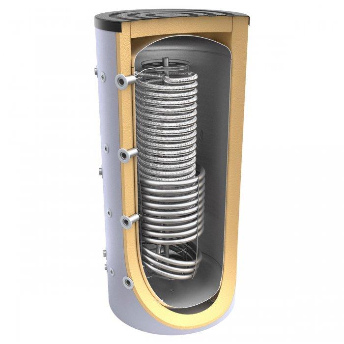 Буферен съд TESY V 12 S 1000 95 HYG5.5 C за инсталации и БГВ с една серпентина + хигиенна серпентина