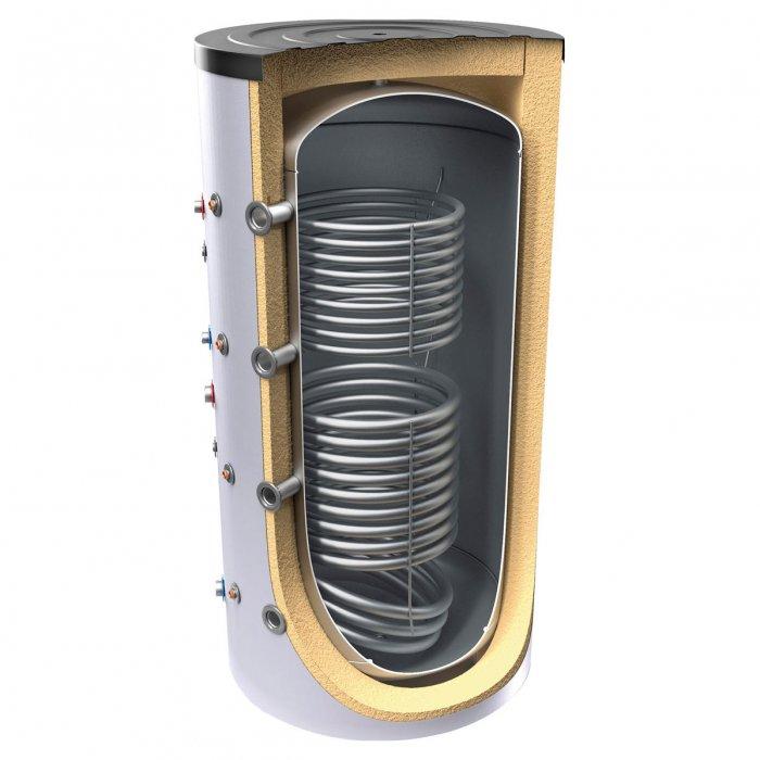 Буферен съд TESY V 15/9 2000 130 F46 P6 C за отоплителни инсталации с две серпентини