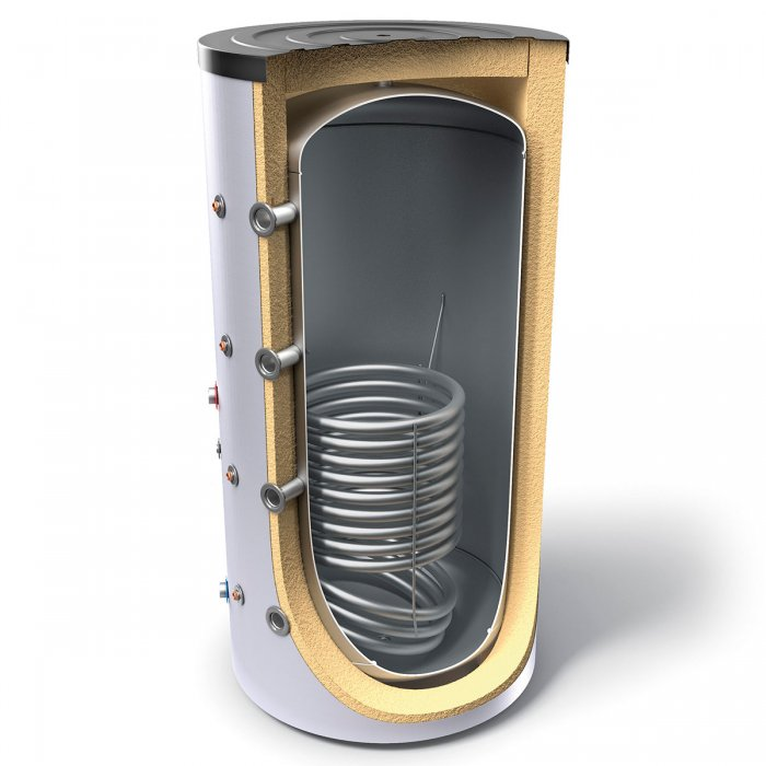 Буферен съд TESY V 12S 300 65 F41 P4  за отоплителни инсталации със серпентина