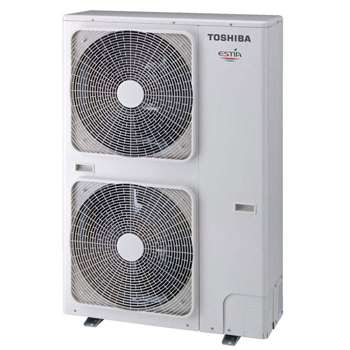 Термопомпа Toshiba Estia HWS-P1105XWHT9-E/HWS-P1405H8R-E POWERFUL, 14 kW, отопление, охлаждане и БГВ
