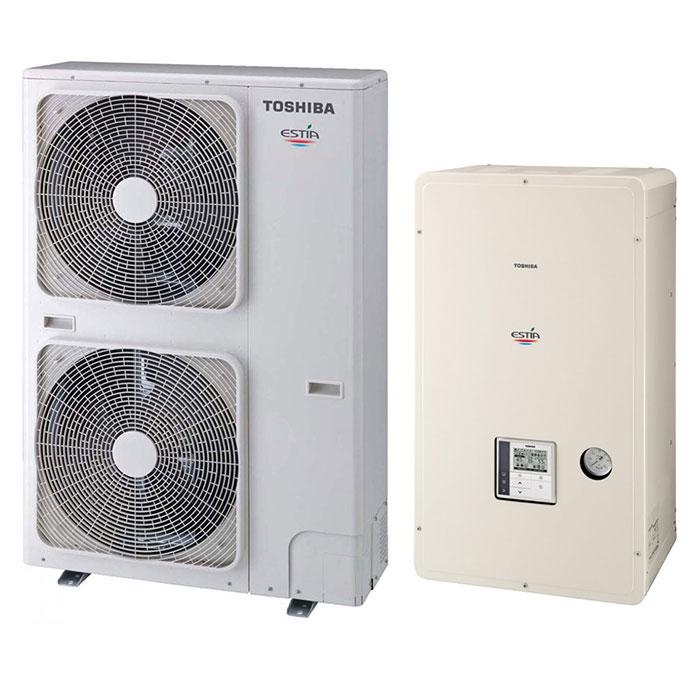 Термопомпа Toshiba Estia HWS-1405XWHM3-E/HWS-1105H-E, 11 kW, отопление, охлаждане и БГВ