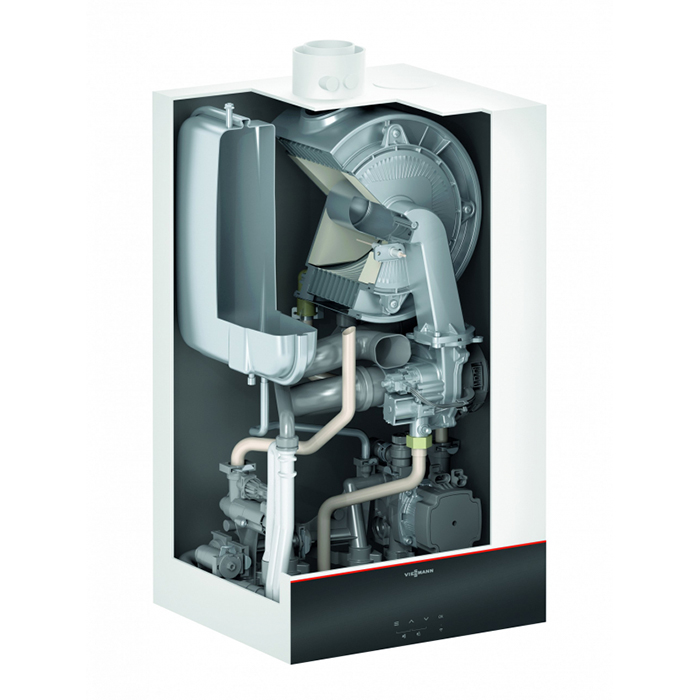Газов котел Viessmann Vitodens 100-W B1HF19 + димоотвод, 17 kW, едноконтурен, за самостоятелен комин